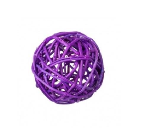 Плетеные шары из ротанга (набор:6 шт., d8см, цвет: фиолетовый)