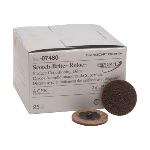 3M Scotch-Brite™ Roloc™ SC-DR Круг, A CRS, 50 мм, № 07480