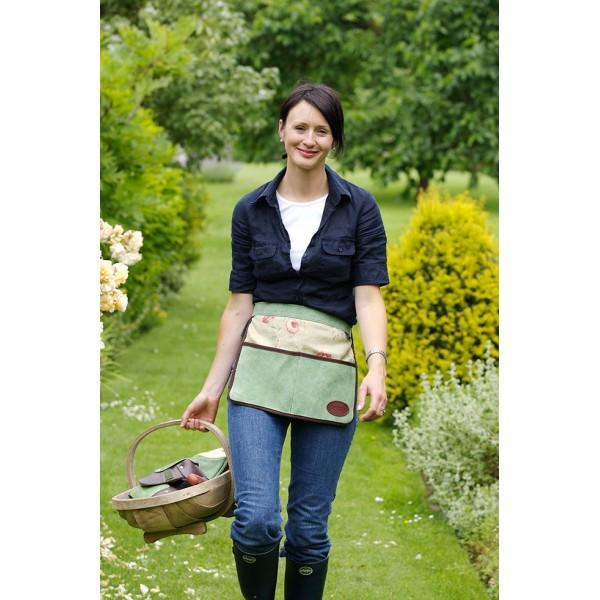 Фартук для сада кожаный укороченный с цветочным принтом Bradleys