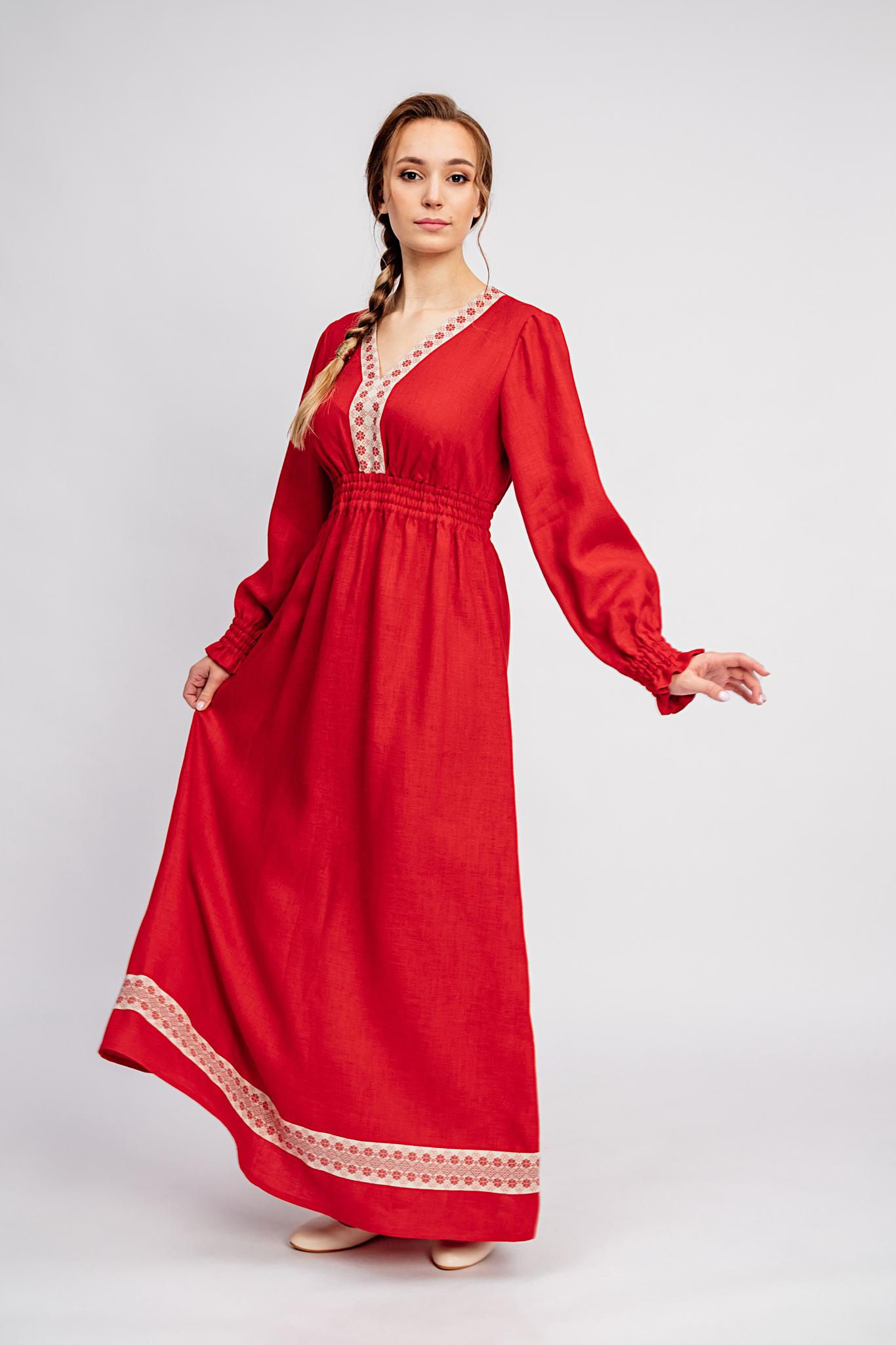 Русское свадебное платье Утренняя роза