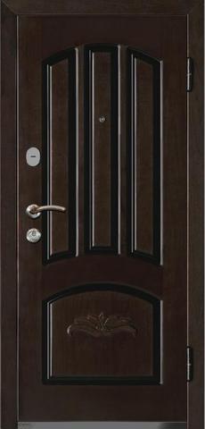 Дверь входная Monte Bello 286 стальная, орех, 2 замка