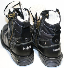 Зимние ботинки мужские черные кэжуал Bugatti