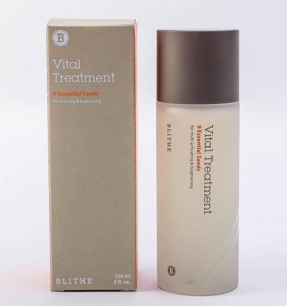 BLITHE Vital Treatment 9 Essential Seeds сияющая эссенция для лица 150мл