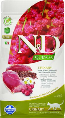 Farmina N&D Cat Urinary сухой корм для кошек для профилактики МКБ (утка, киноа, клюква и ромаш) 300г