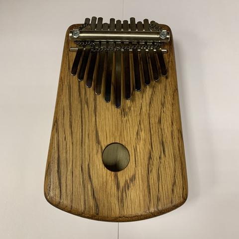 Калимба, дуб, A minor pentatonic, 11 язычков, акустическая большая басс с цепочкой