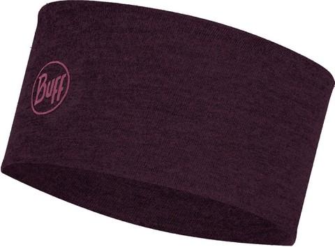 Шерстяная повязка на голову Buff Headband Midweight Wool Solid Deep Purple фото 1