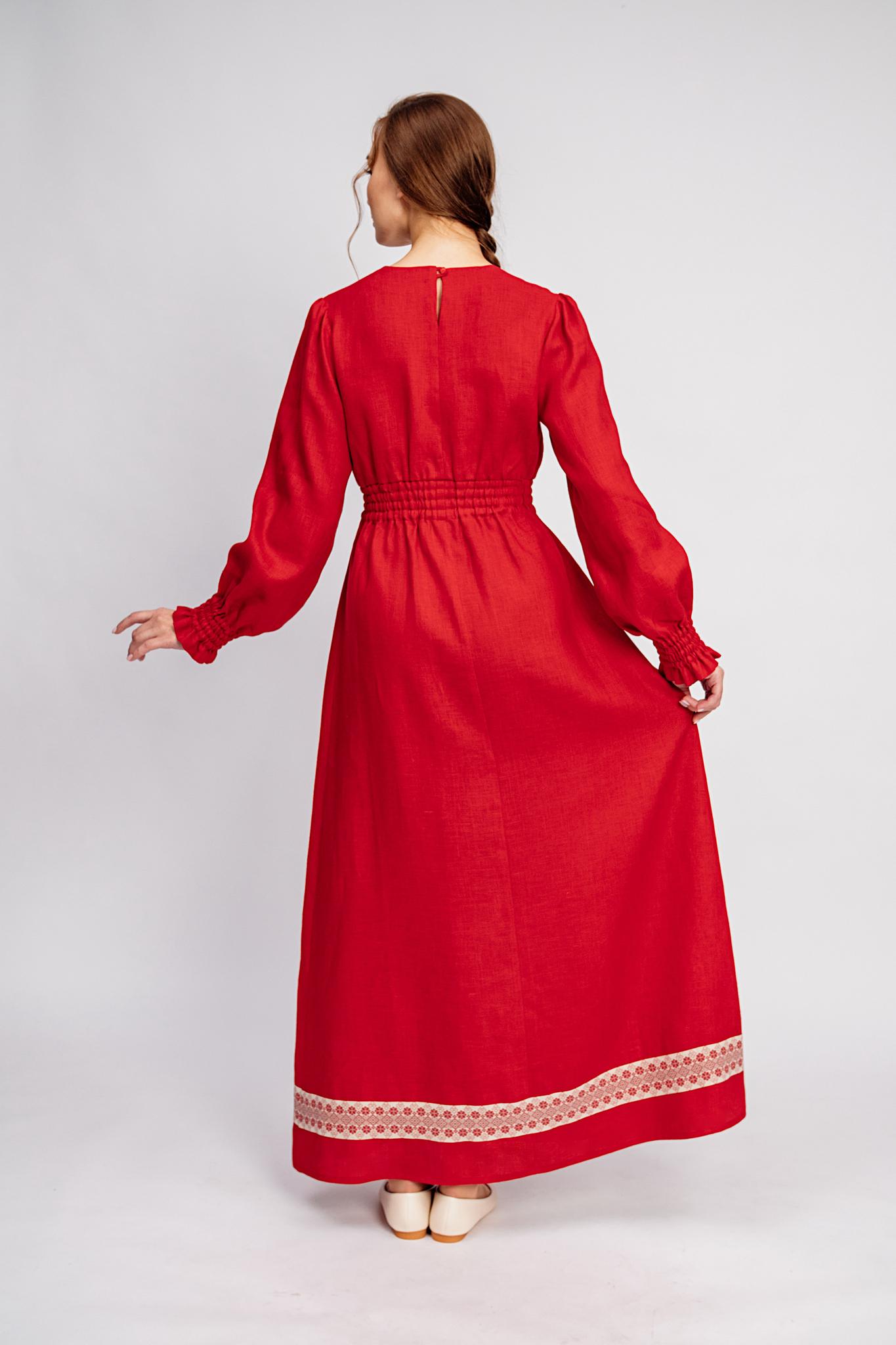 Нарядное платье славянское Утренняя роза