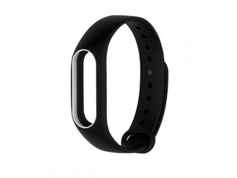 Силиконовый ремешок для Xiaomi Mi Band 2 (черный с белым)