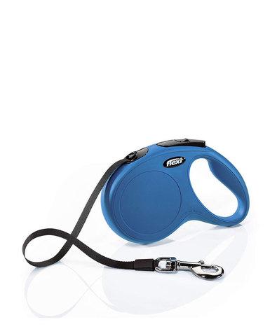 Flexi поводок-рулетка New Classic S (до 15 кг) 5 м лента (синяя)