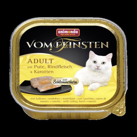 Animonda Vom Feinsten Adult Меню для гурманов Консервы для кошек с Индейкой, говядиной и морковью