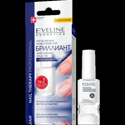 EVELINE Nail Therapy БРИЛЛИАНТ Укрепляющее средство с бриллиантами 12мл