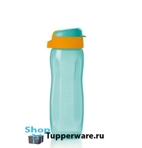 Эко-бутылка Стиль (500 мл) голубая с клапаном