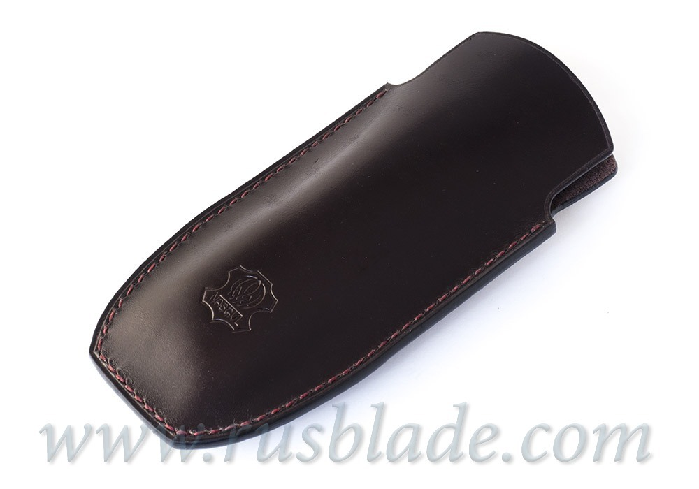 Shirogorov leather sheath Bear logo Brown