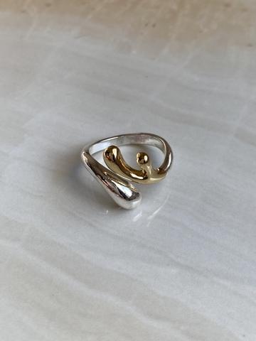Кольцо Риама, серебряный цвет и позолота