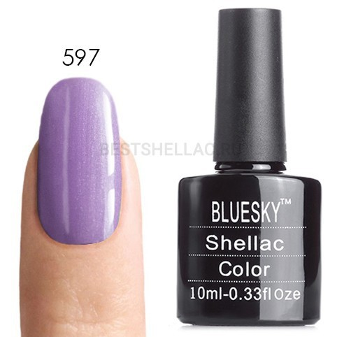 Bluesky Shellac 40501/80501 Гель-лак Bluesky № 40597/80597 Beckoning Begonia, 10 мл 597.jpg