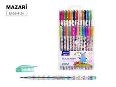 Mazari Debut набор гелевых ручек с блестками 0.8 мм - 24 цвета