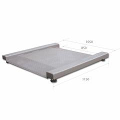 Весы платформенные низкопрофильные MAS PM4R-1500-105115, LCD, АКБ, 1500кг, 200/500гр, 1050х1150, RS-232 (опция), стойка (опция), с поверкой, выносной дисплей, встроенный пандус