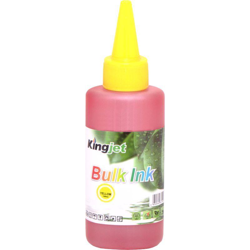 Чернила Пигментные KingJet@ Epson Universal Pigment Ink CJDP006.100Y 100мл., желтый (yellow).