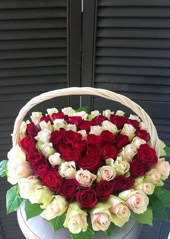 71 роза в корзине   #16872