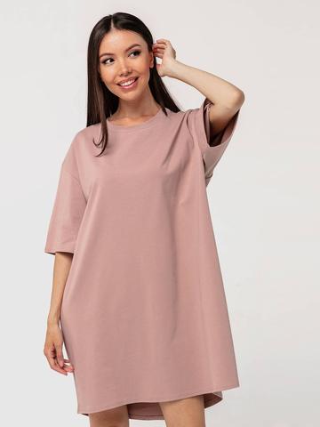 Платье-футболка хлопковое темный визон YOS