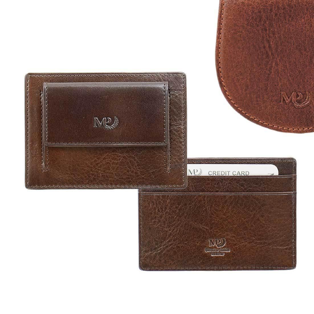 B120256R Cognac - Футляр для карт MP с RFID защитой