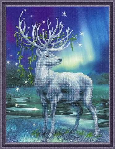 Набор для вышивания крестом «Белый олень» (0043 РТ)