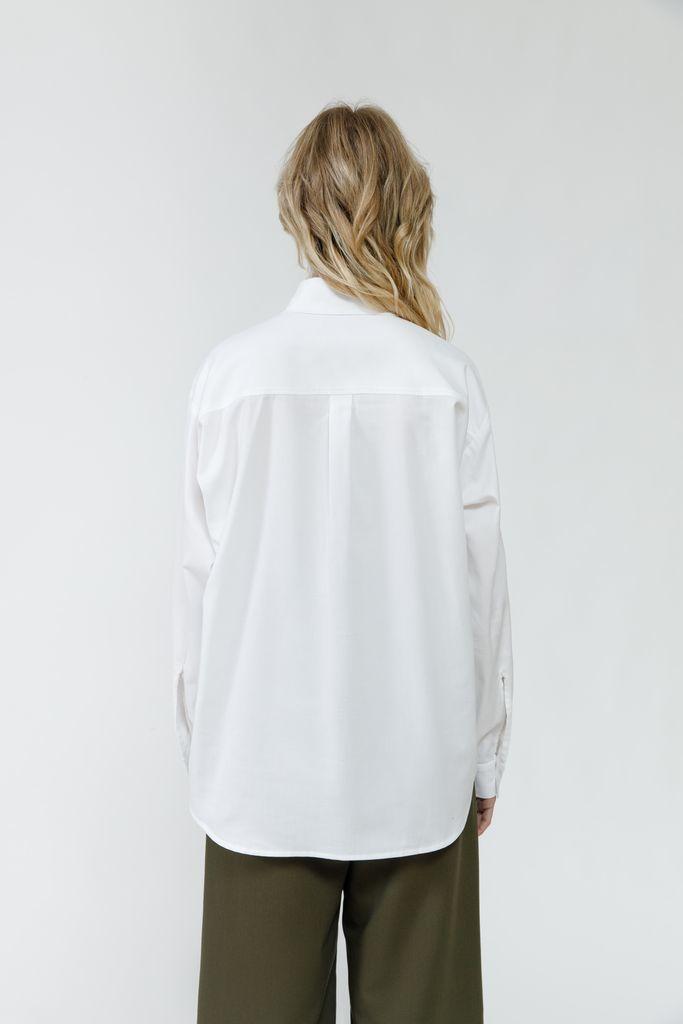Классическая рубашка из хлопка белая