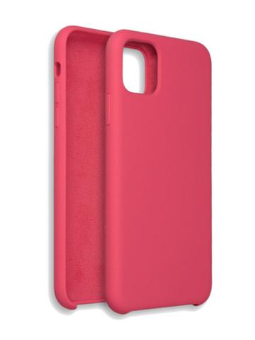 Чехол для iPhone 11 Софт тач мягкий эффект | микрофибра темно-розовый