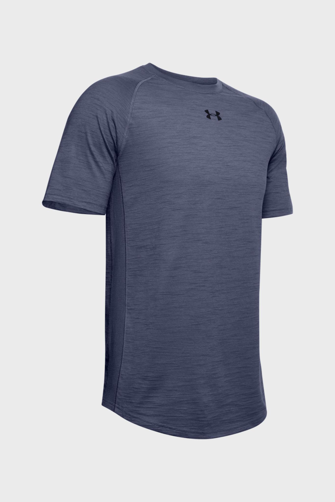 Мужская синяя спортивная футболка Charged Cotton SS Under Armour