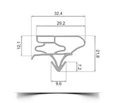 Уплотнитель холодильника Samsung RS20NRSV side by side м.к 1535*420 мм по пазу (035/003 АНАЛОГ)