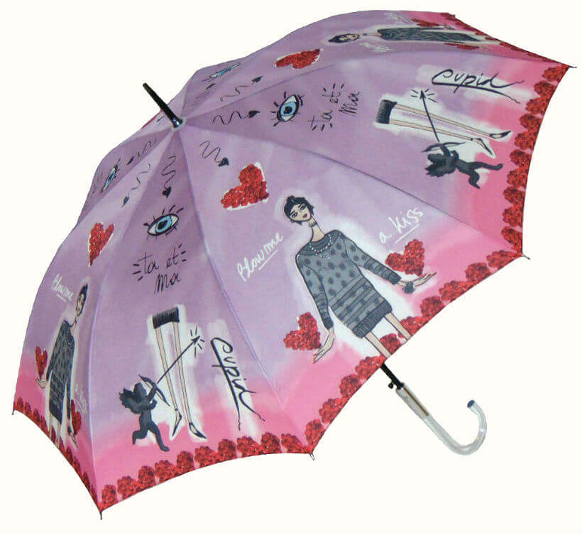 Зонт-трость Perletti Chic 21194-3 Histoire d'Amour