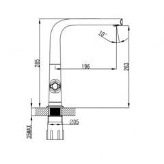 Смеситель KAISER Topaz 17133 для кухни схема