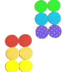 Тактильные дощечки-парочки цветные, Сенсорика