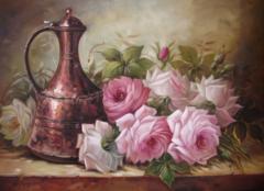 Алмазная Мозаика + Багет 40x50 Кувшин и цветы