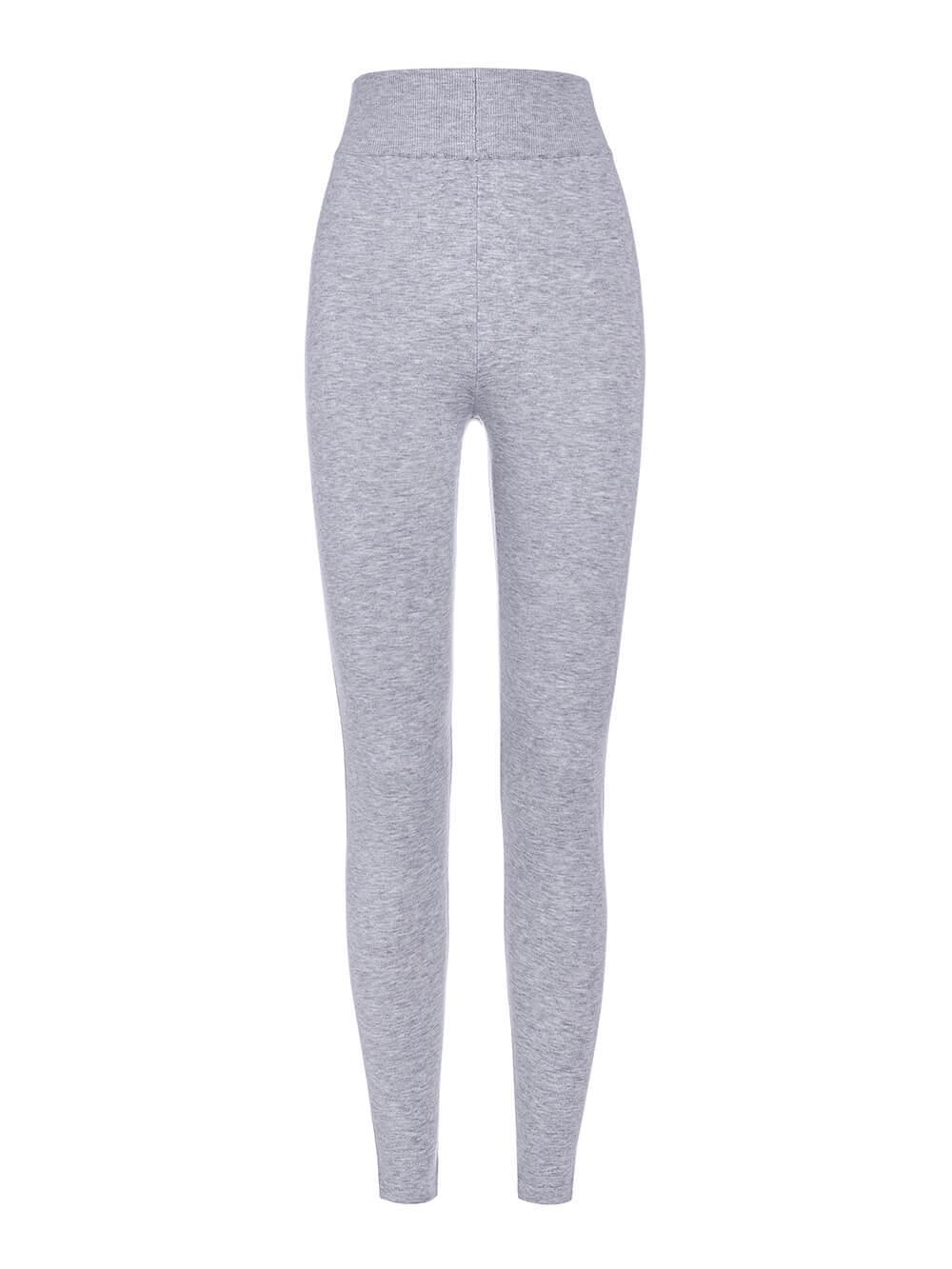 Женские брюки цвета серый меланж из вискозы - фото 1