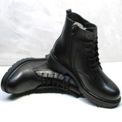 Кожаные ботинки женские демисезонные Misss Roy 252-01 Black Leather.