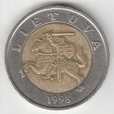 K12263 1998 Литва 5 лит XF