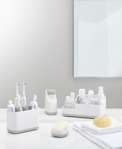 Органайзер для зубных щеток EasyStore большой белый-серый