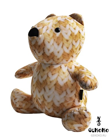 Подушка-игрушка антистресс Gekoko «МиниМишка Вязаный», оранжевый 3