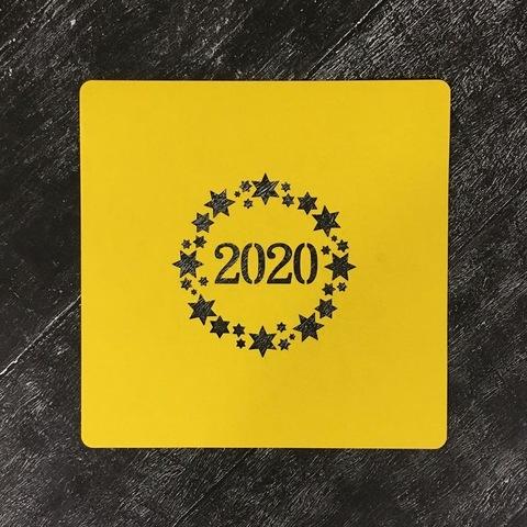 Трафарет новогодний 2020 №26
