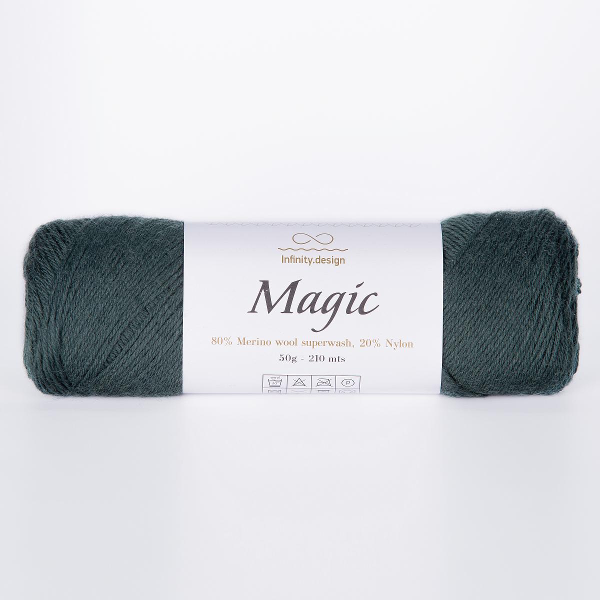 Пряжа Infinity Magic 8264 темный изумруд