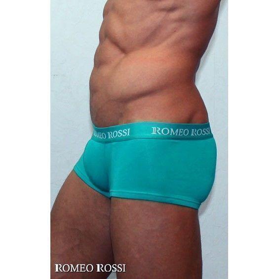 Мужские трусы хипсы бирюзово-зеленые Romeo Rossi Comfort Boxer Brief RR5001-07