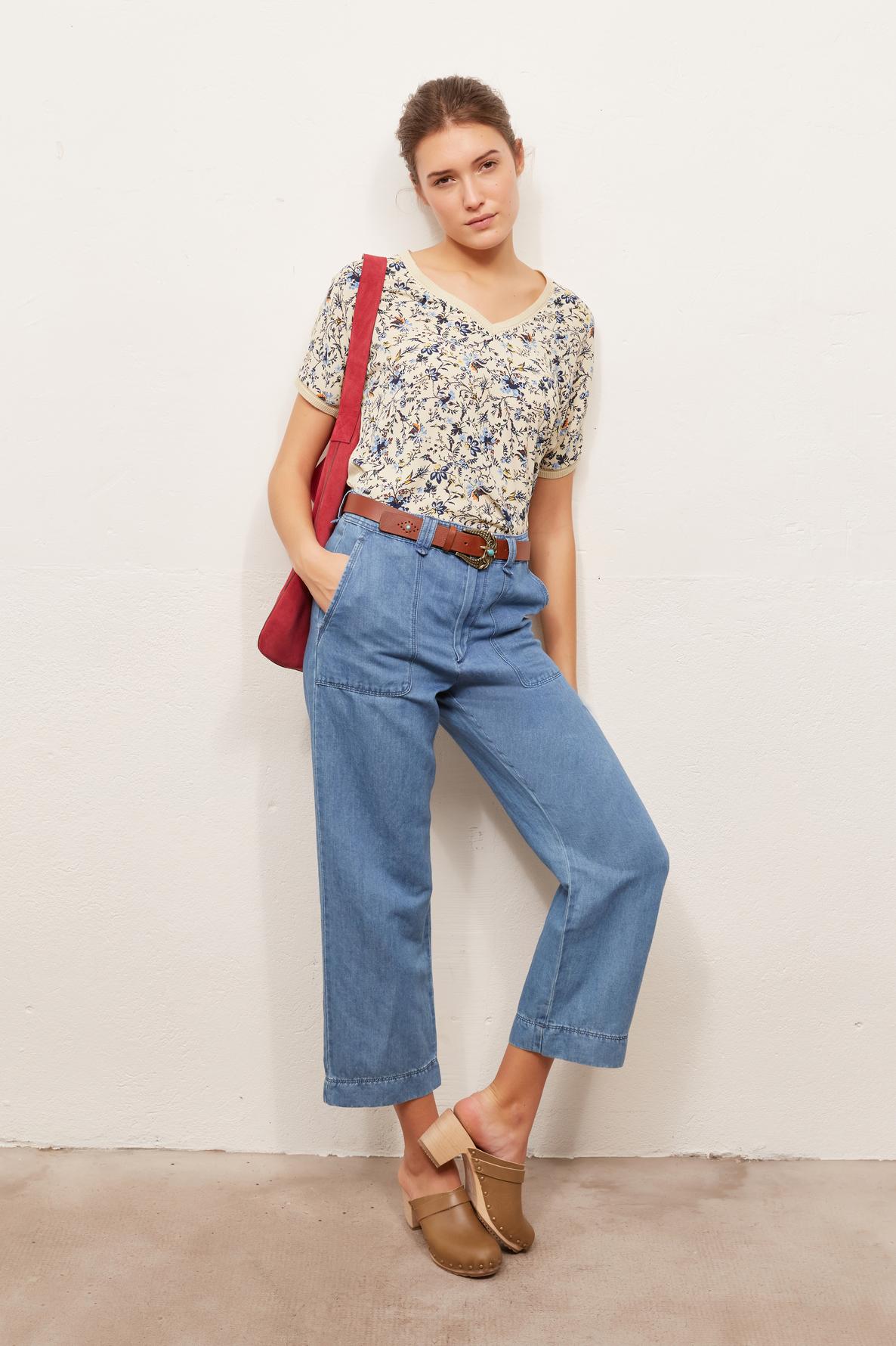 MARISA - Широкие брюки в джинсовом стиле длиной 7/8