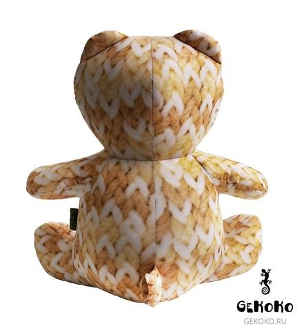 Подушка-игрушка антистресс Gekoko «МиниМишка Вязаный», оранжевый 4