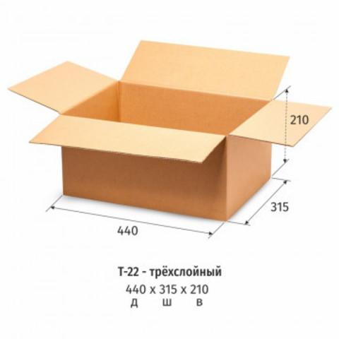 Гофрокороб картонный, 440х315х210, Т-22, 10 шт/уп