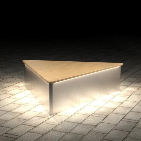 МАФ ПАБЛИК треугольный с подсветкой