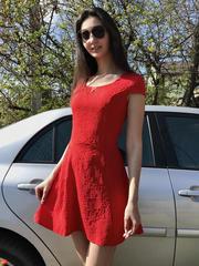 Фіона. Легке літнє молодіжне плаття. Червоний