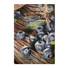 Тканевая маска для лица с Черникой,SECRET NATURE, Firming Blueberry Mask Sheet, 25г