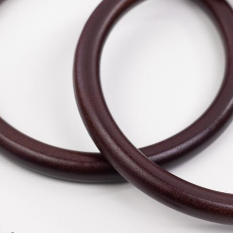 Деревянные ручки для сумки N3 темно-коричневые