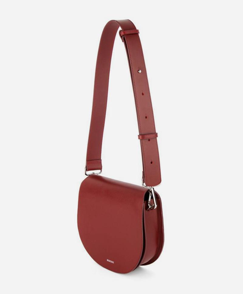 сумка-полукруглая-бордовая